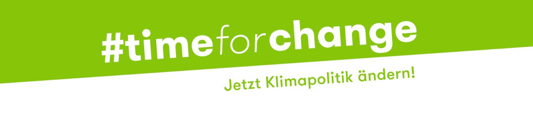 Klima-Kampagne: #timeforchange