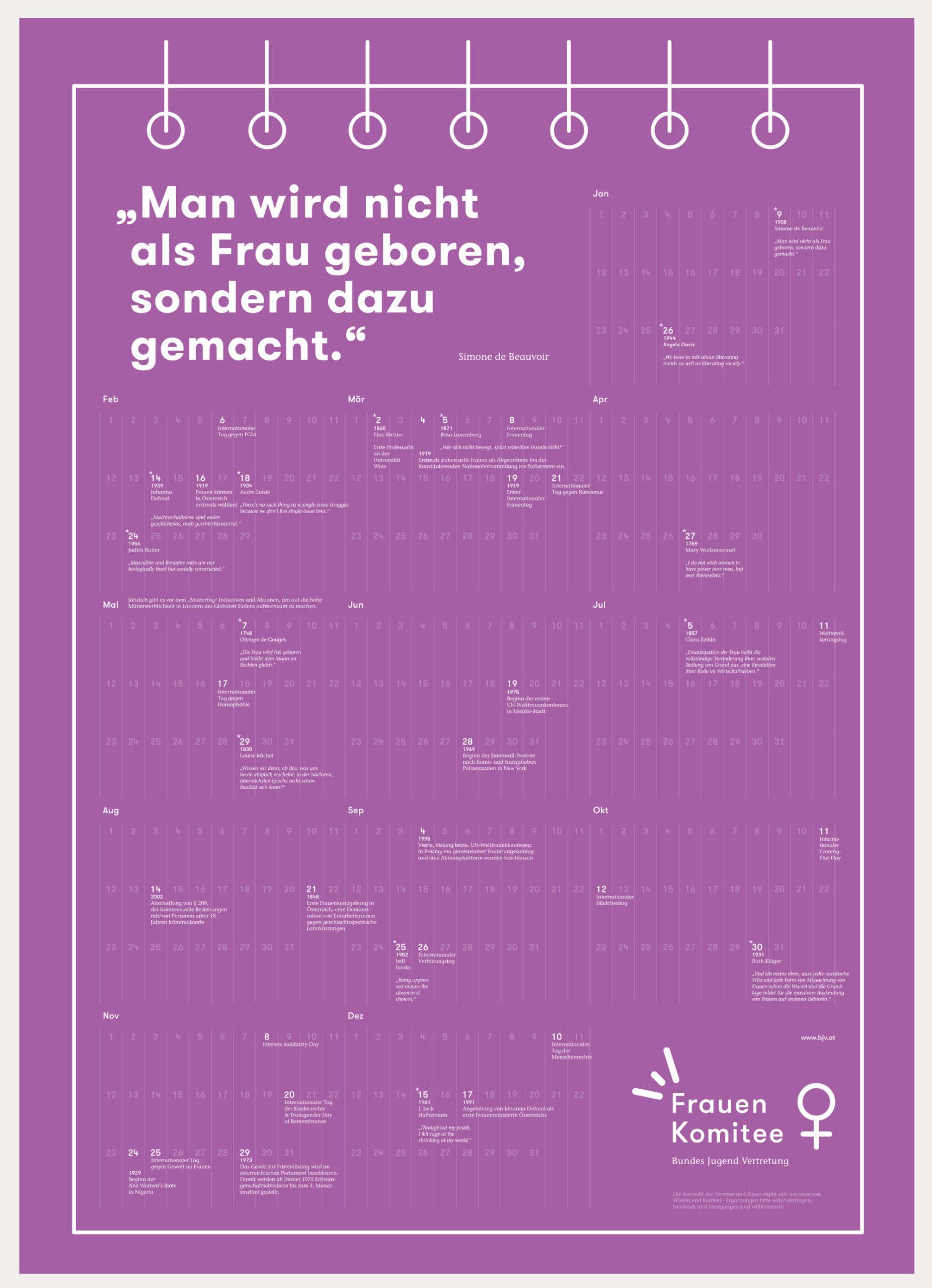 feministischer Jahreskalender