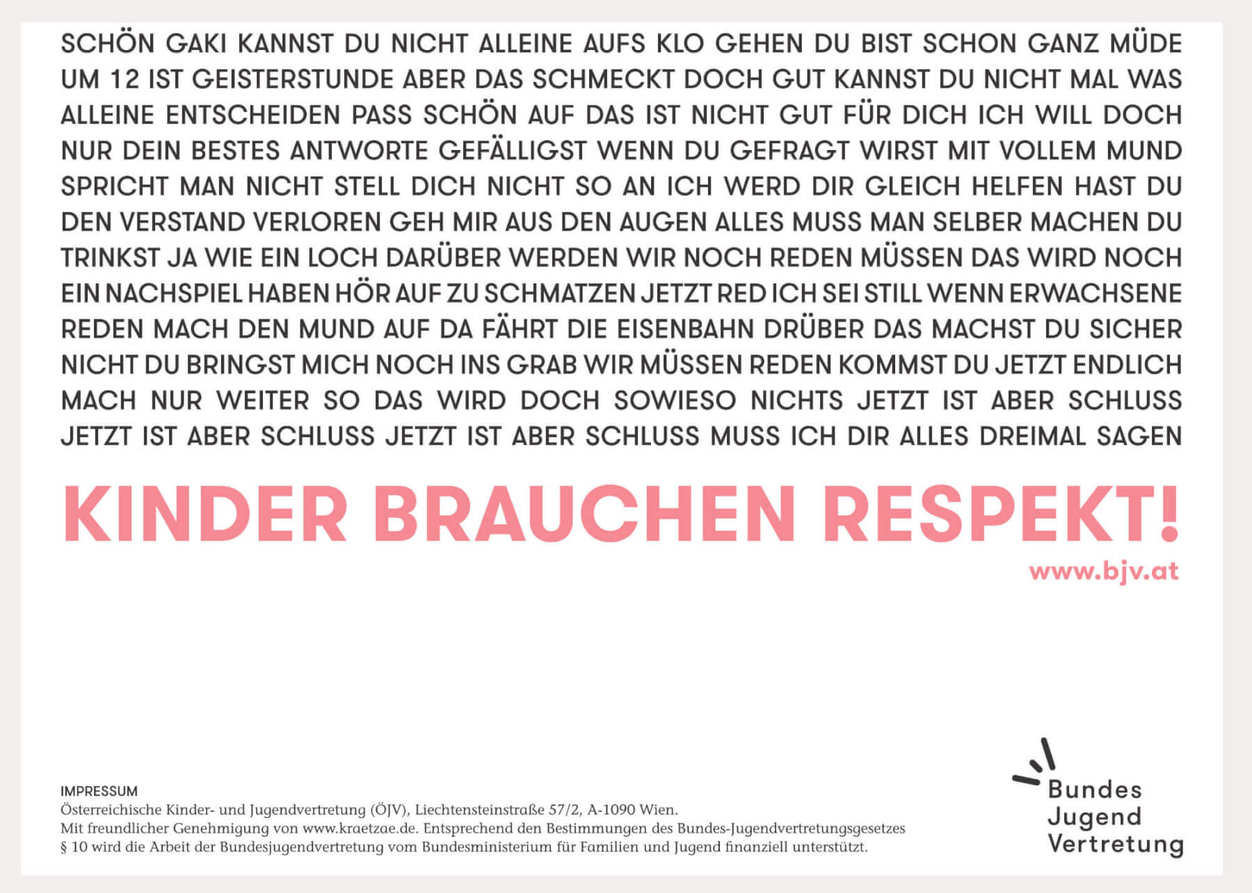Plakat Kinder brauchen Respekt